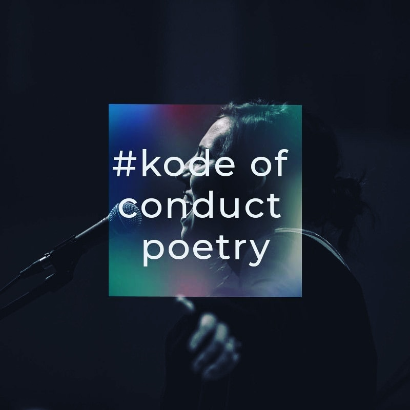 Kode of Conduct Poetry Amsterdam