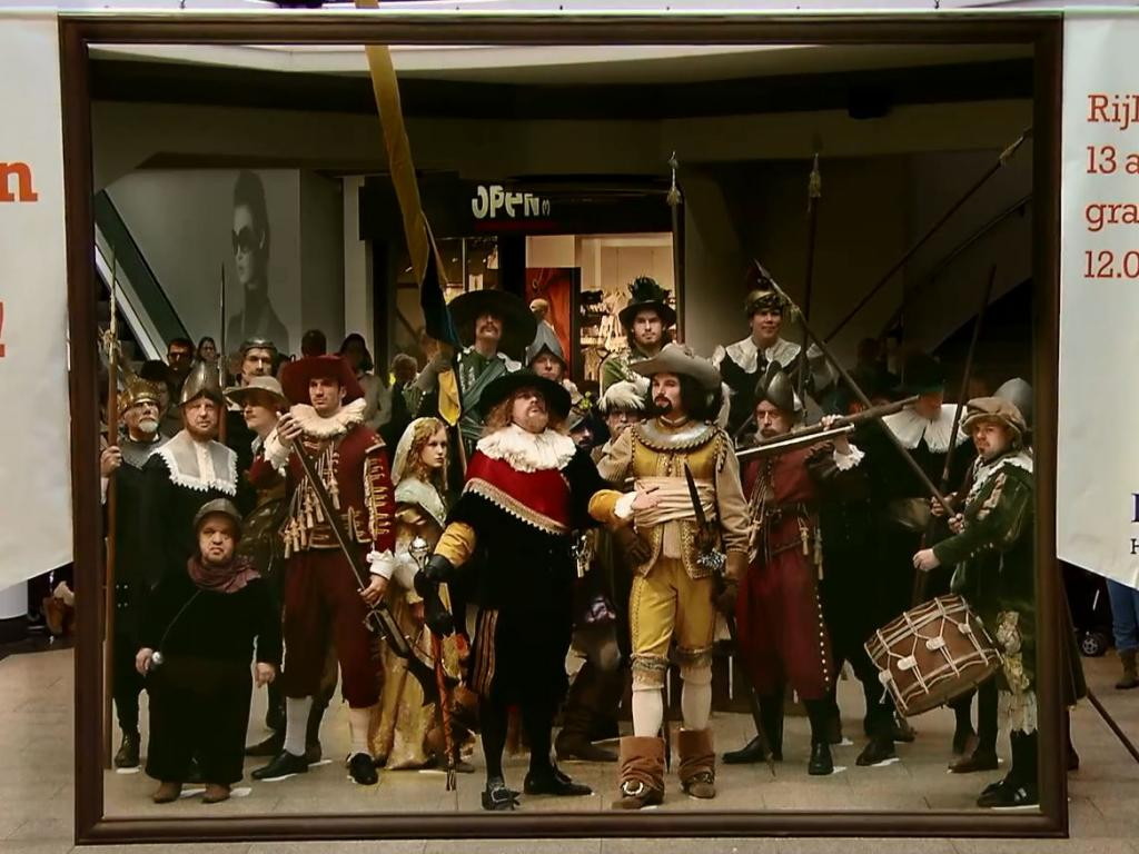The living version of Rembrandt's Night Watch