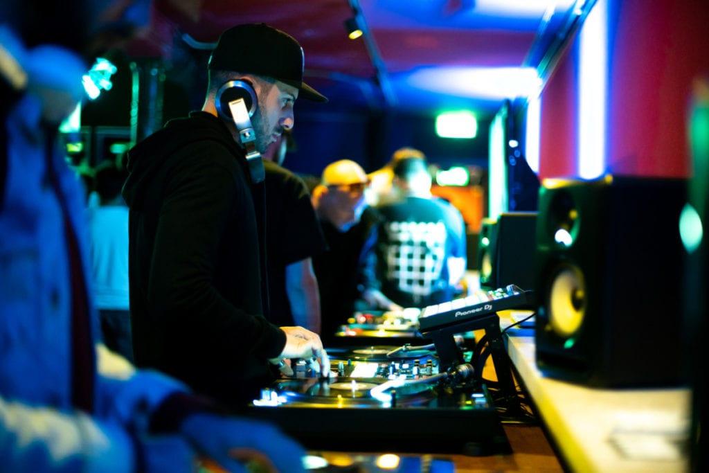 Amsterdam Dance Event - DJ in front of equipment