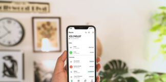photo-of-hand-holding-n26-review-app-with-plants-in-background