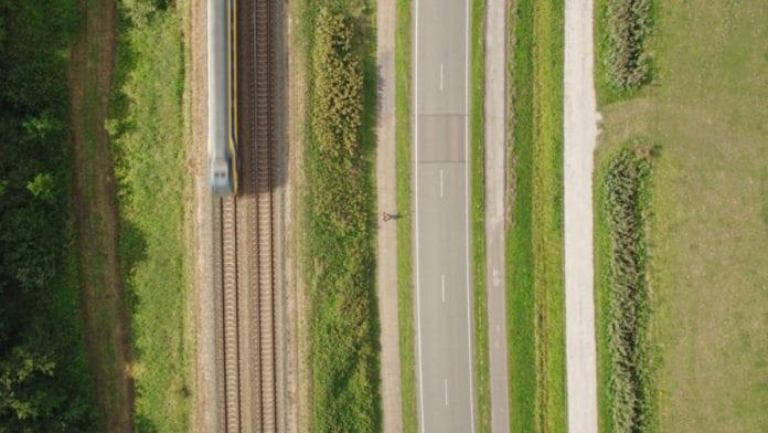 netherlands aerial shot