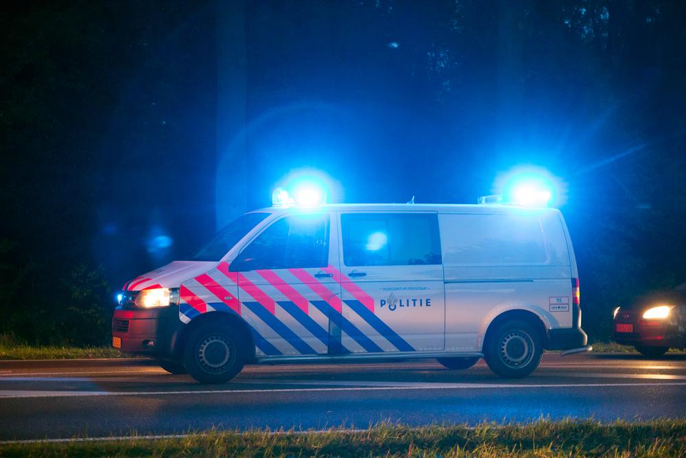 Dutch-police-van-at-night