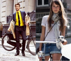 Bikes aren't only good for getting around; they're also great for looking hot.(Source: Garance Dore & NY Times)