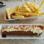Fries with frikandel speciaal
