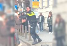 photo-of-rotterdam-police-officer-hitting-boy