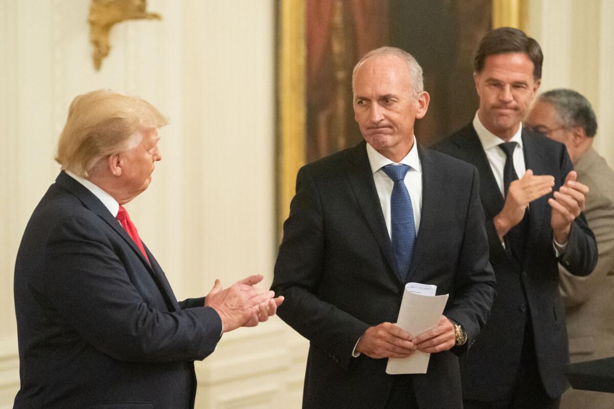 Donald Trump meets Mark Rutte