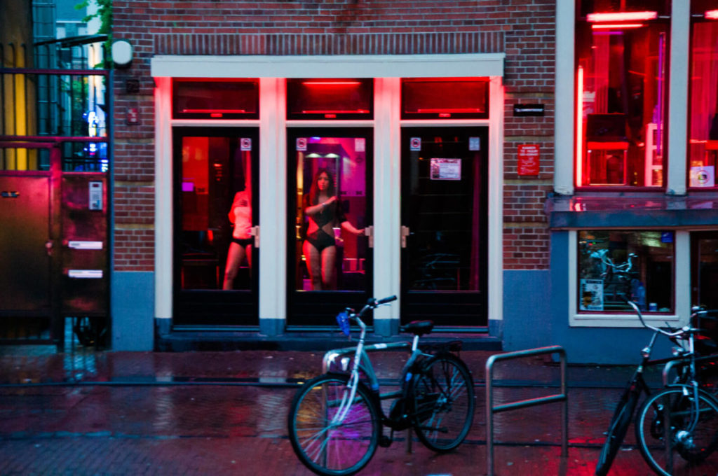 Prostitution in the Netherlands - Amsterdam Red Light District windows