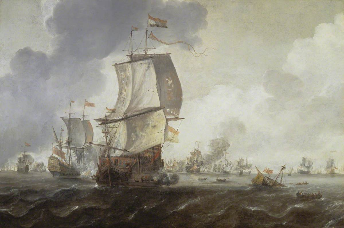 photo-of-the-painting-a-battle-of-the-first-dutch-war-by-renier-nooms