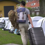 Student arriving to the summer camp