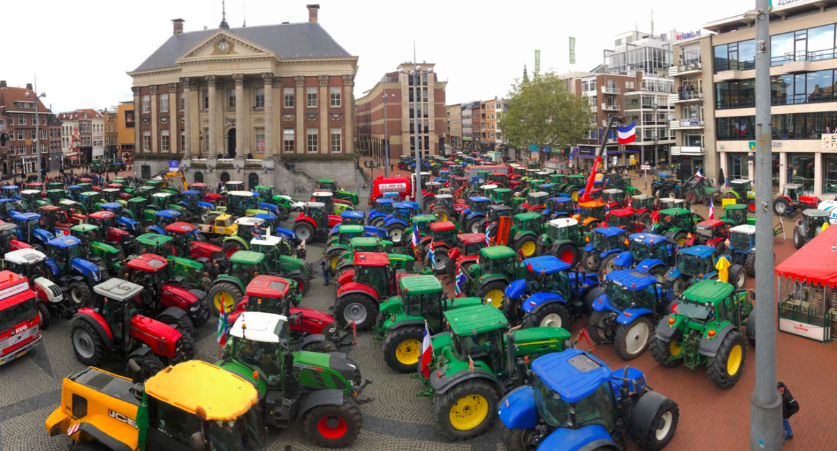 Image result for farmer protests in amsterdam