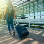 holiday suitcase vacation airport