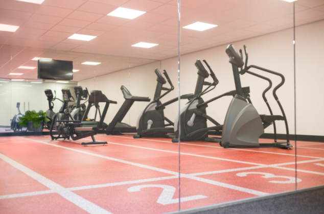 Fitness room at long-stay hotel