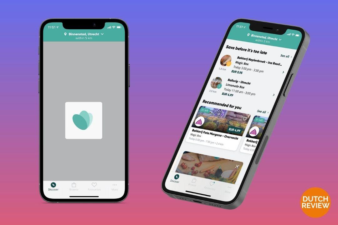 Too-Good-To-Go-app-on-a-Dutch-phone