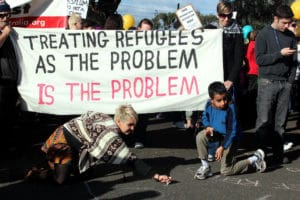 Protesting refugees