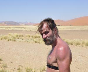 Wim Hof in Namib
