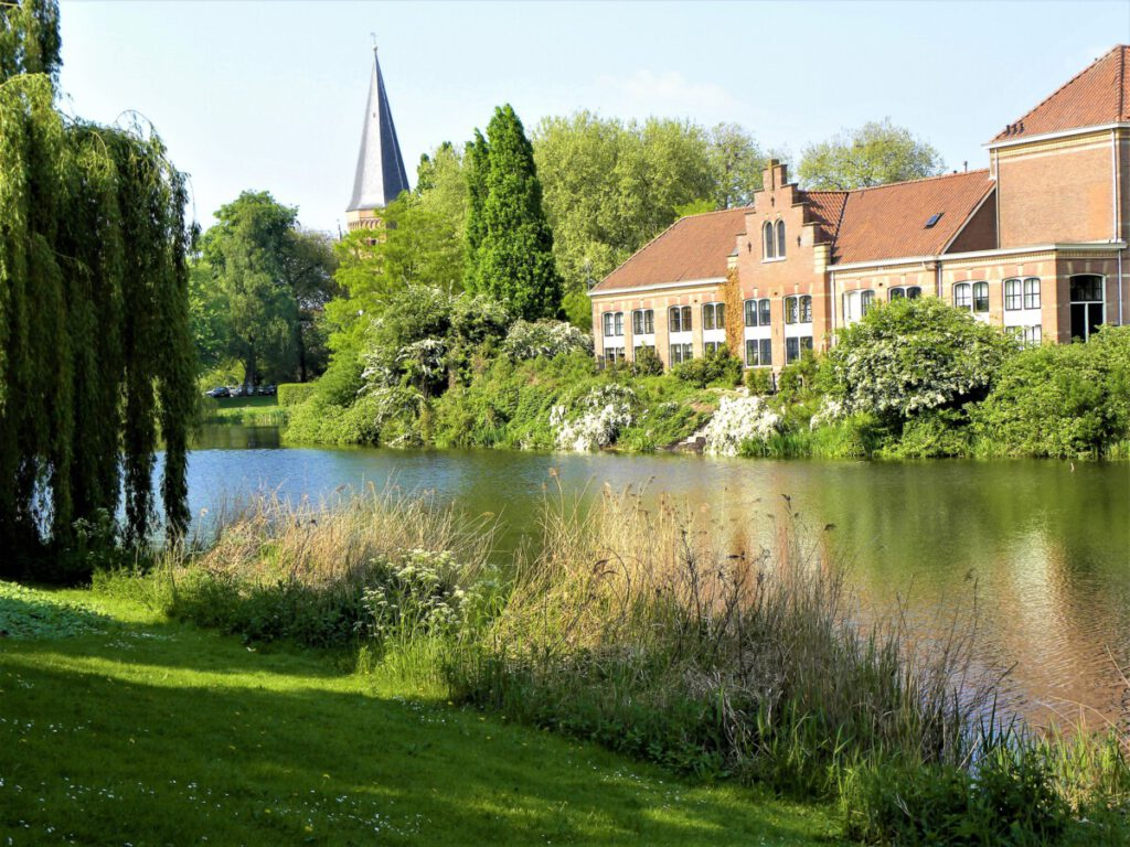 A-pond-in-Zutphen-city-centre-in-the-Netherlands