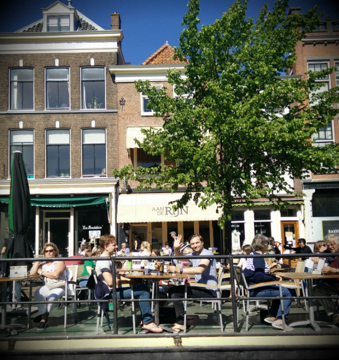 Dutch people will be swarming over the terraces when the sun's out