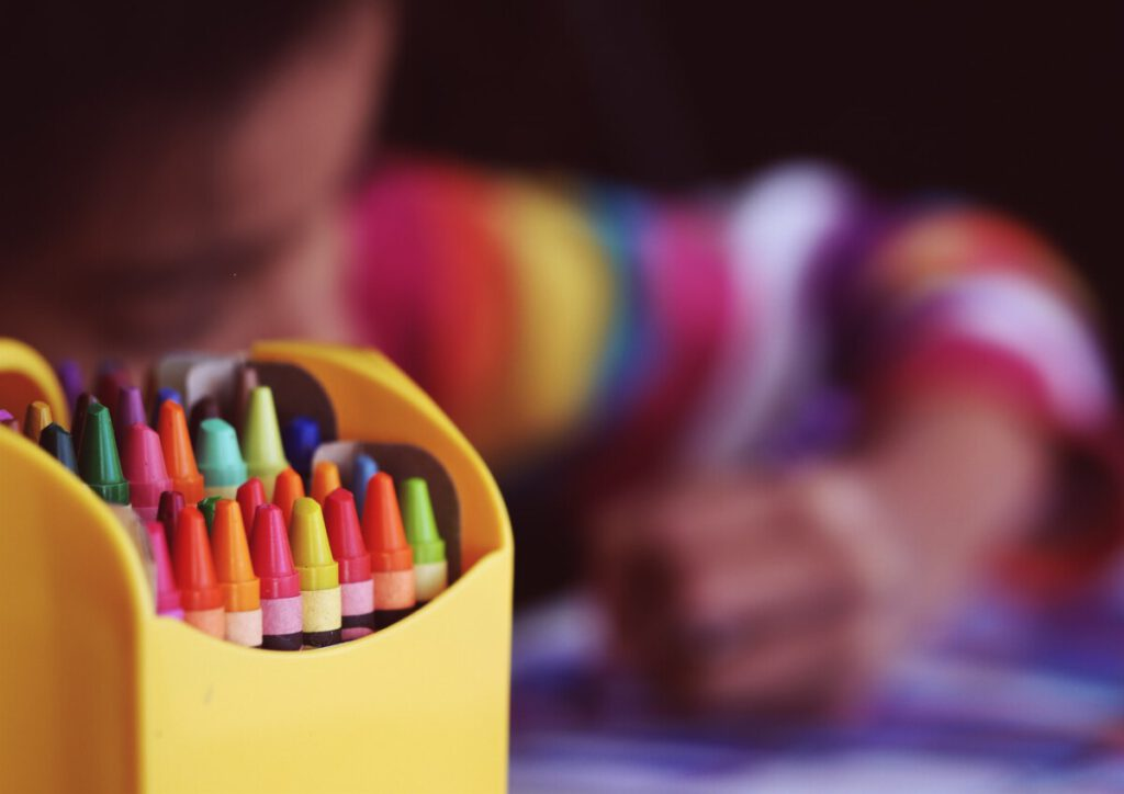 Photo-of-girl-with-crayons-primary=schools-in-the-Netherlands