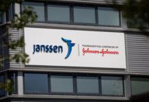 Photo-of-Janssen-Johnson-&-Johnson-logo-on-building