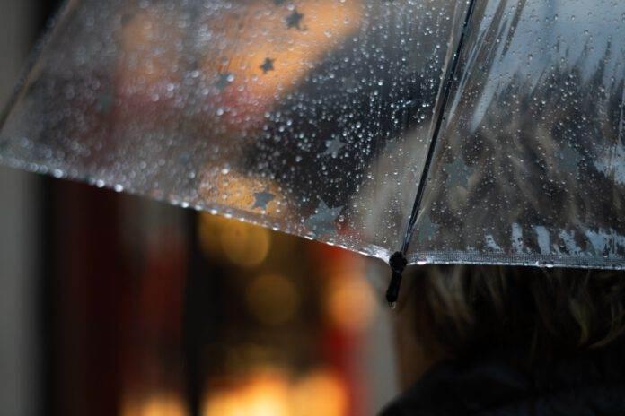 Photo-of-umbrella-in-rain