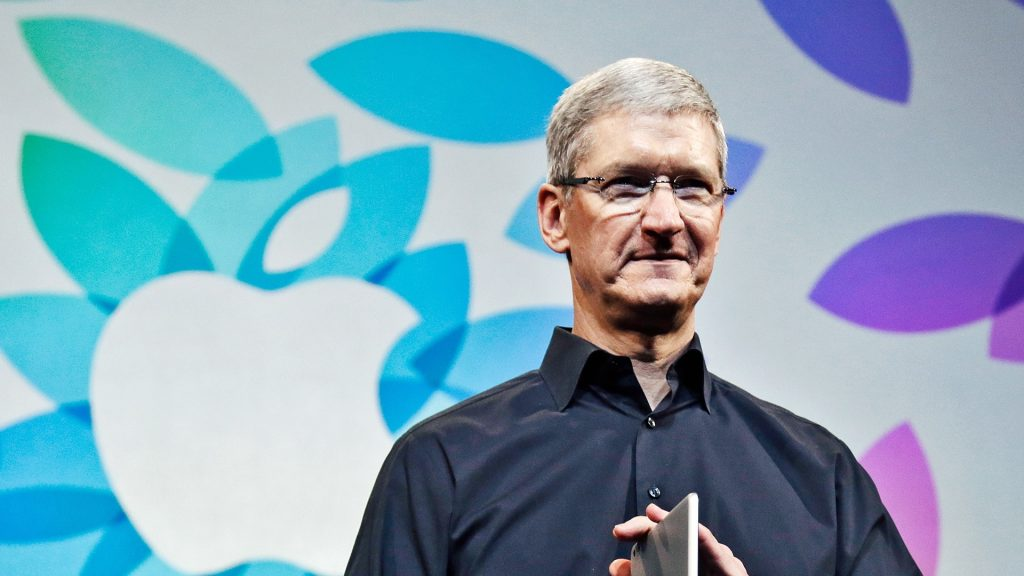 Tim Cook of Apple Inc. will take the stage