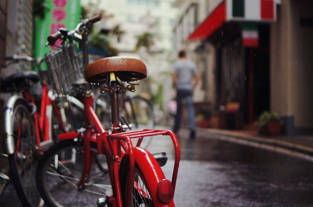biking through Rain netherlands