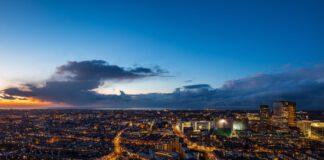 Bright skyline of The Hague