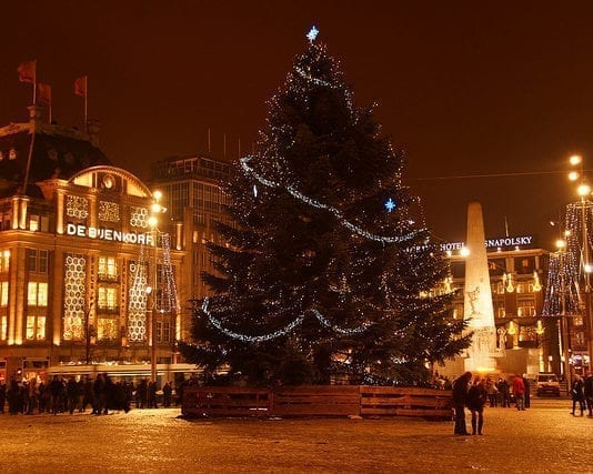 Christmas tree in Dam Square