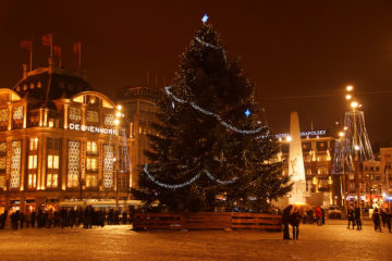 Christmas tree in Dam Square