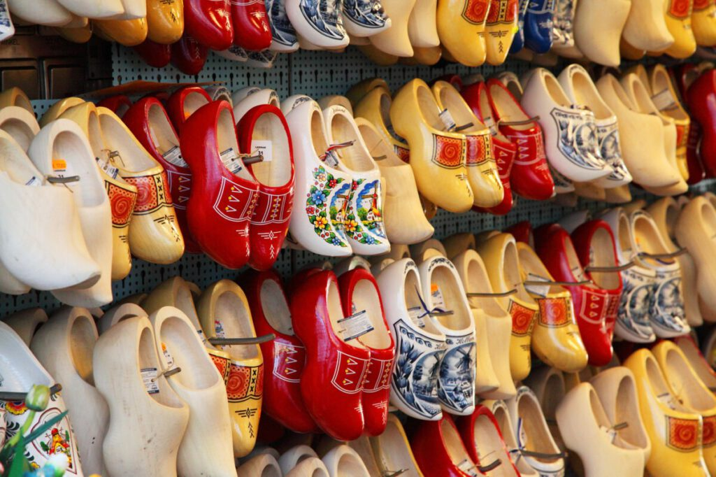 clogs in a store