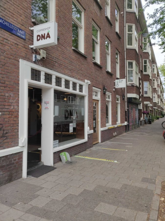smoking weed Amsterdam Genetics coffeeshop