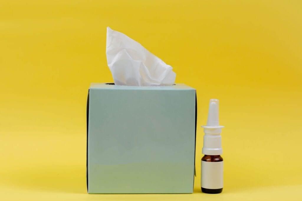 A-Dutch-nasal-spray-and-a-box-of-tissues