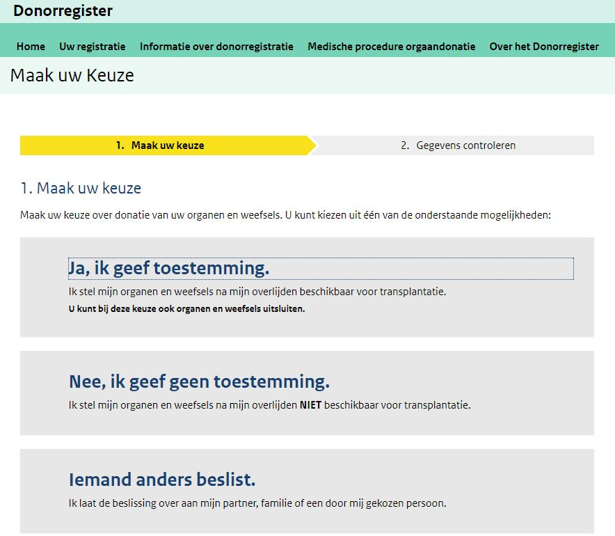 organ donation in the netherlands