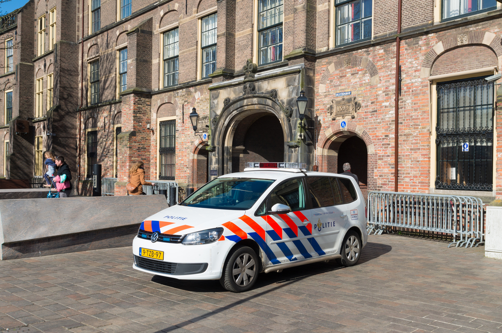 police-car-in-front-of-dutch-parliament-suspected-attack-on-netherlands-prime-minister-rutte