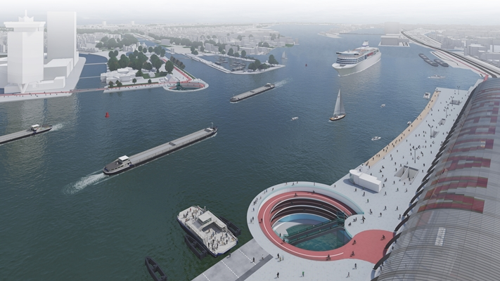 The Tunnel Under the River IJ - Will this giant spiral get cyclists in Amsterdam across the river? – DutchReview