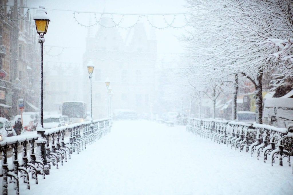 winter in Amsterdam - snow