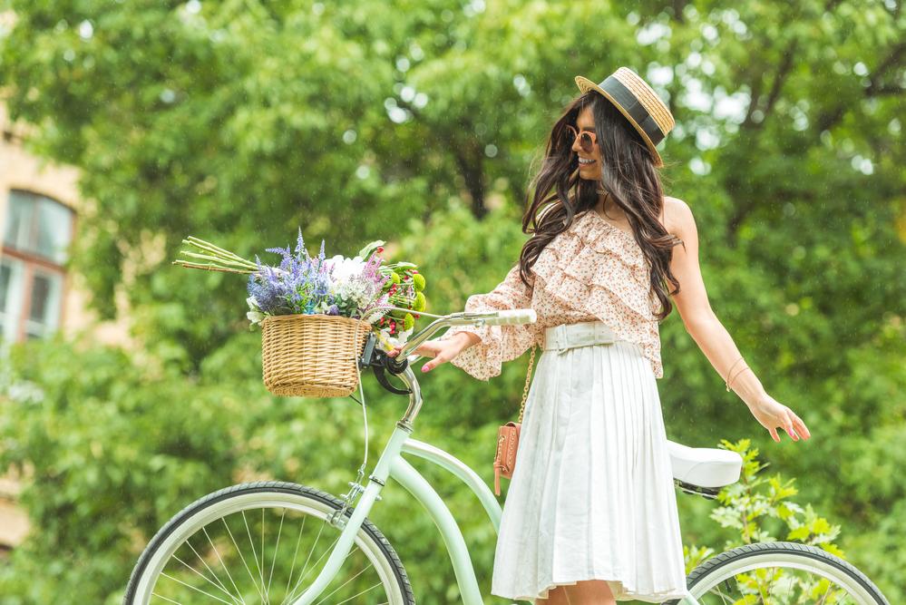 photo-of-girl-dressed-up-on-bike