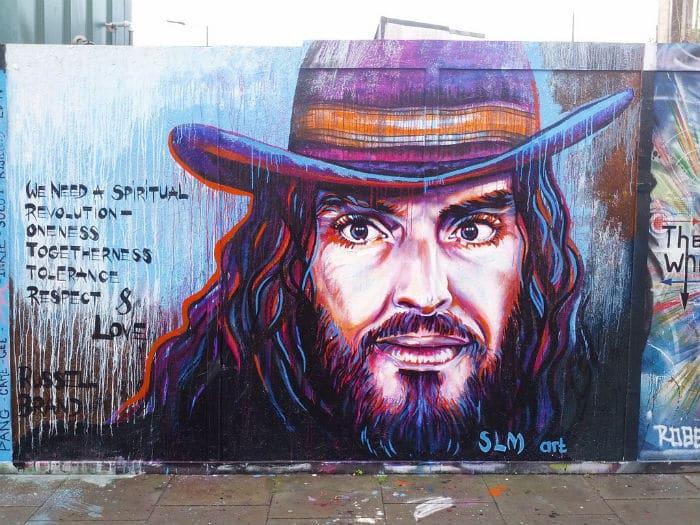 Street art inspired by Brand