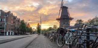 holland-netherlands-bike-windmill