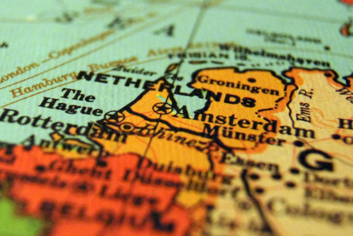 photo-of-the-map-of-the-netherlands