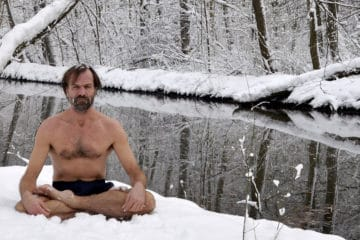 Wim Hof in snow
