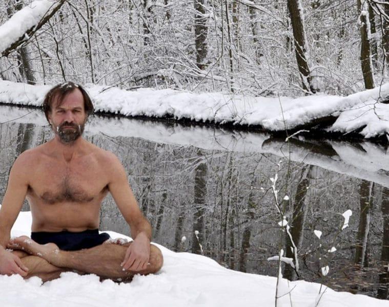 Wim Hof in snow
