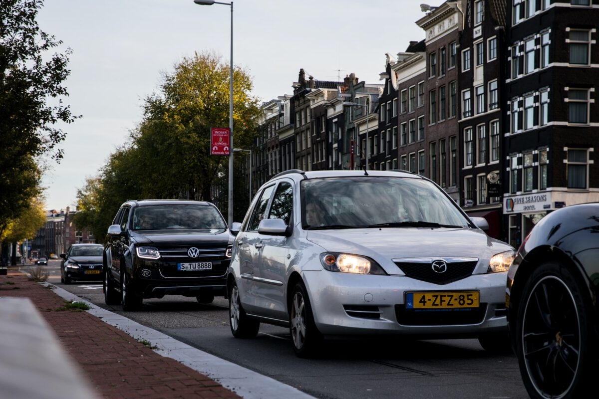 Photo-of-cars-waiting-in-traffic-Amsterdam-Netherlands