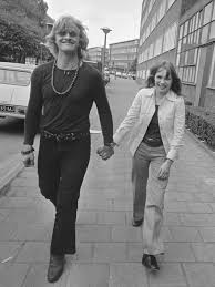 One of the few, rare images of Rutger Hauer and Monique van de Ven together with their clothes ON.