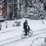 winter snow bike netherlands