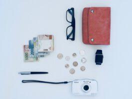 holiday-vacation-allowance-flatlay-money-coins-camera