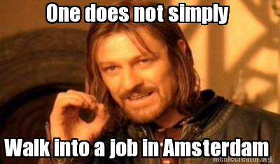 finding a job in Amsterdam