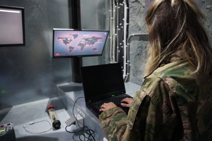 army video game bunker escape room