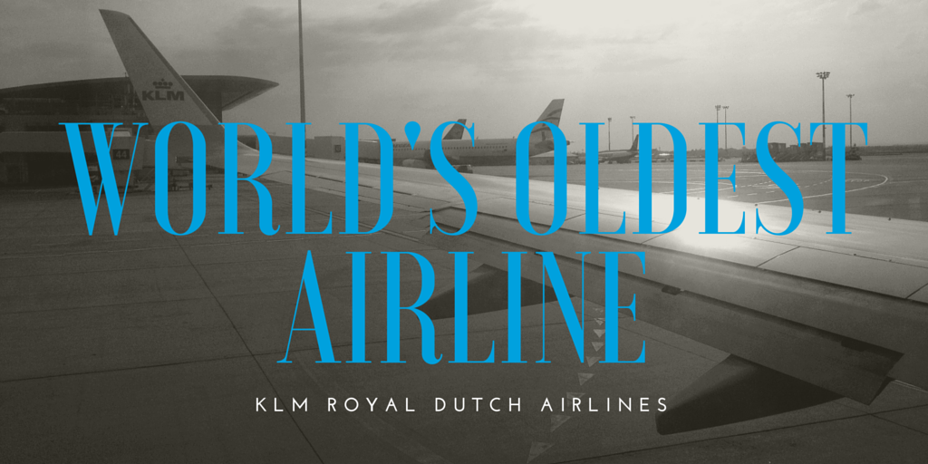 KLM wing on the world's oldest airline