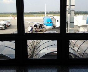 klm plane at Schiphol airport